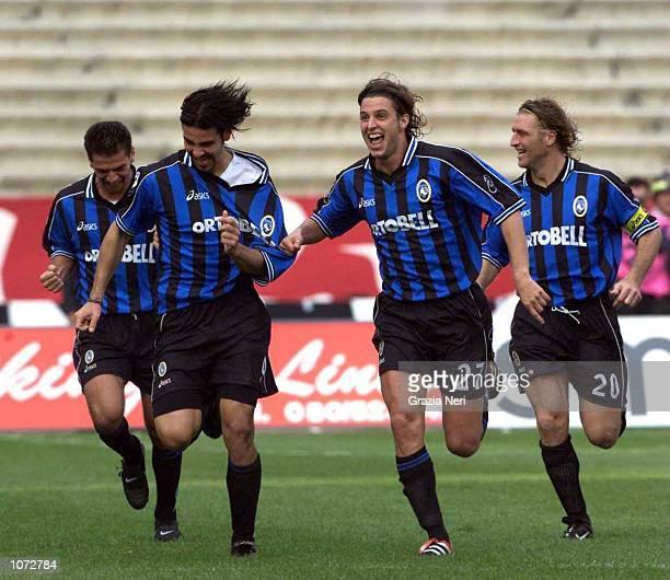 Fausto Rossini of Atalanta celebrates during the Bari AS v Atalanta Serie A match played at the San Nicola Stadium in Bari Mandatory Credit Grazia...