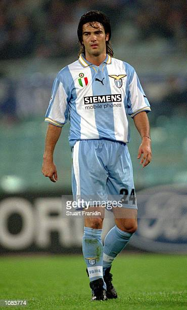 Fernando Couto of Lazio in action during the UEFA Champions League match against Shakhtar Donetsk played at the Stadio Olimpico in Rome Italy Lazio...