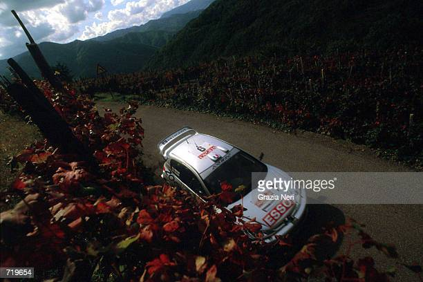 Francois Delecour in the Peugeot 206 in action during the San Remo Rally Round 12 of the World Rally Championship Mandatory Credit Grazia...