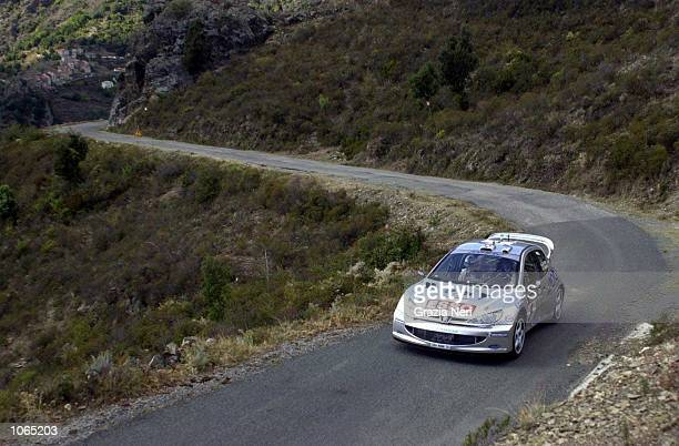 Francois Delecour in the Peugoet 206 during the Corsica Rally in the World Rally Championships in Cyprus GRITTI / GRAZIA NERI Mandatory Credit Grazia...