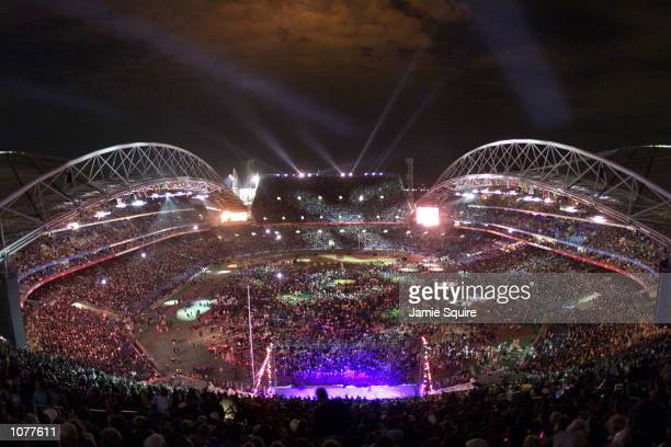 General view during the Closing Ceremony of the Sydney 2000 Paralympic Games at Olympic Stadium Homebush Bay Sydney Australia X DIGITAL IMAGE...