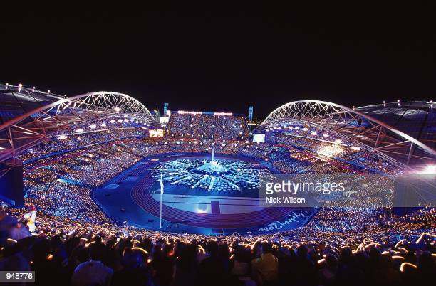 General view from the Closing Ceremony of the Sydney 2000 Olympic Games at the Olympic Stadium in Sydney Australia Mandatory Credit Nick Wilson...