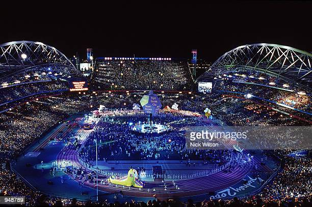 General view from the Closing Ceremony of the Sydney 2000 Olympic Games at the Olympic Stadium in Sydney, Australia. \ Mandatory Credit: Nick Wilson...