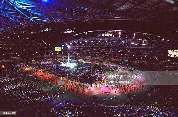 General View of the Closing Ceremony at the Olympic Stadium on day 16 of the Sydney 2000 Olympic Games in Sydney Australia Mandatory Credit Mark...