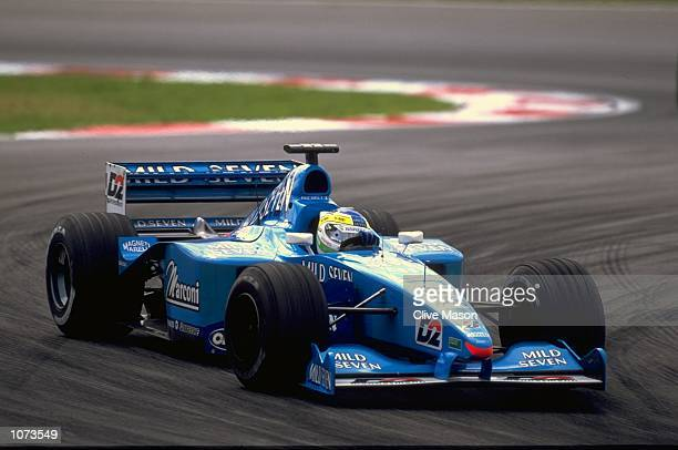 Giancarlo Fisichella of Italy and the Benetton Playlife team during the Malaysian Formula One Grand Prix at the Sepang Circuit in Kuala Lumpur...