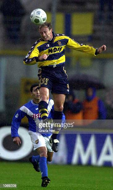 Gianluca Falsini of Parma in action during the Serie A league match between Brescia and Parma played at the Mario Rigamonti Stadium Brescia Italy...