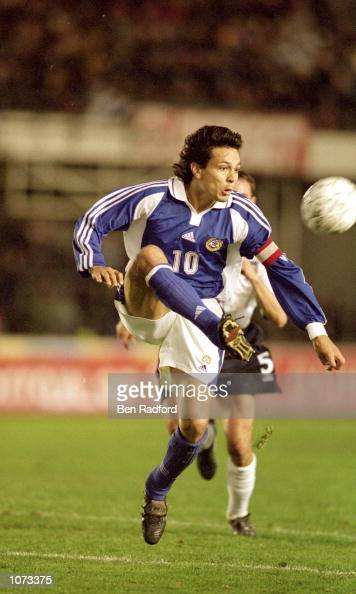 Jari Litmanen of Finland controls the ball during the World Cup 2002 Group 9 Qualifying match against England played at the Olympic Stadium in...
