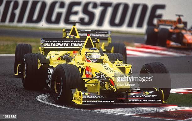 Jarno Trulli in action in his Jordan Mugen/Honda during the Formula One Japanese Grand Prix at Suzuka in Japan Mandatory Credit Clive Mason /Allsport