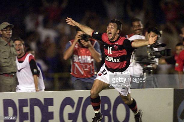 Petkovic of Flamengo celebrates during the Flamengo v Vasco de Gama Joao Havelange Cup match played at the Maracana Stadium Rio de Janeiro Mandatory...