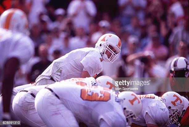Quarterback Casey Clausen of the Tennessee Volunteers barks the snap count from under center during the Volunteers 1714 victory over the South...