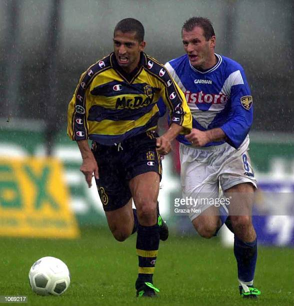 Sabri Lamouchi of Parma in action during the Serie A league match between Brescia and Parma played at the Mario Rigamonti Stadium Brescia Italy...
