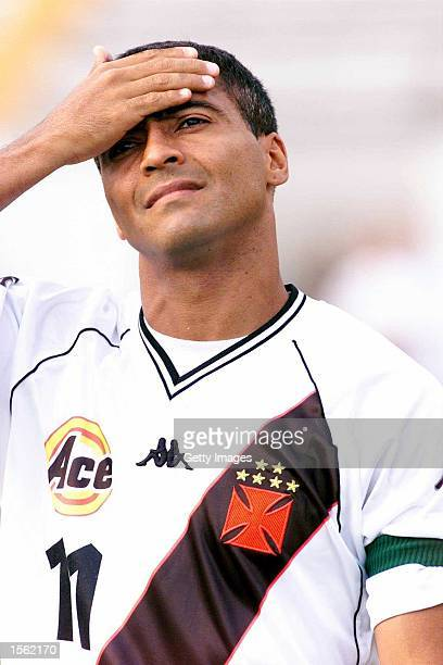 Souza Romario during the Brazilian I Division Joao Havelange Cup match between Vasco da Gama and Gama at Maracana Stadium Rio de Janiero Brazil...