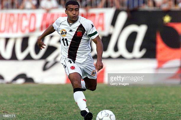 Souza Romario in action during the Brazilian I Division Joao Havelange Cup match between Vasco da Gama and Gama at Maracana Stadium Rio de Janiero...