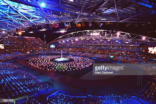The Closing Ceremony at the Olympic Stadium on day 16 of the Sydney 2000 Olympic Games in Sydney Australia Mandatory Credit Mark Dadswell /Allsport
