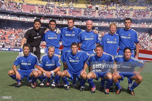 The Kansas City Wizards pose for a group photo before the MLS Cup 2000 Game against the Chicago Fire at the RFK Stadium in Washington DC The Wizards...
