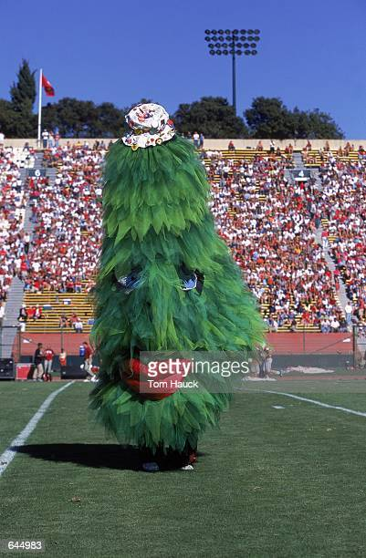 The Mascot for the Stanford Cardinal performs during the game against the USC Trojans at the Stanford Stadium in Palo Alto California The Cardinals...