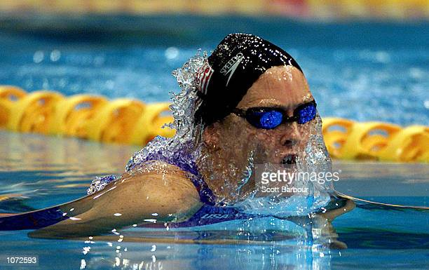 Trischa Zorn of USA in action whilst winning a silver medal in the Womens 100m Breaststroke SB12 Final at the Sydney International Aquatic Centre...