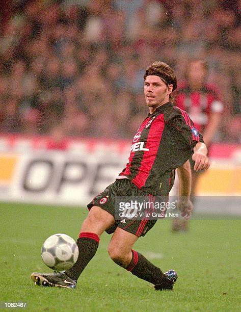 Zvonimir Boban of AC Milan in action during the Italian Serie A game against Juventus played at the San Siro Stadium in Milan Italy The game ended in...