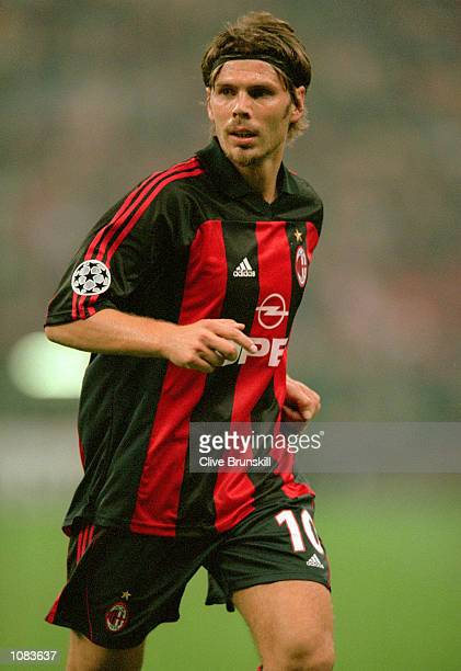 Zvonimir Boban of AC Milan in action during the UEFA Champions League match against Barcelona at the San Siro in Milan Italy The match was drawn 33...