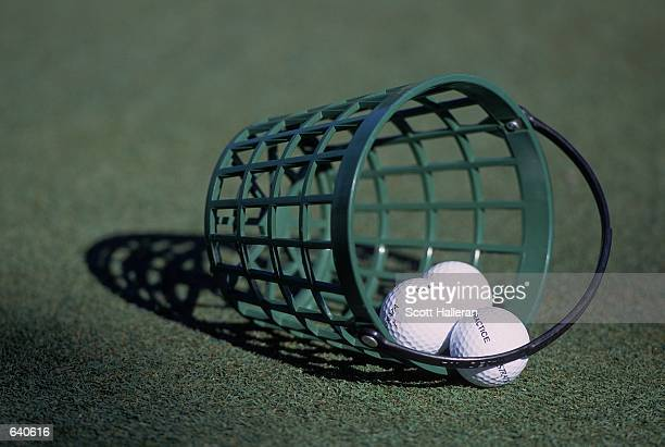 A general view of a bucket of practice golf balls for the Michelob Championships at the Kingsmill Golf Course in Williamsburg VirginiaMandatory...