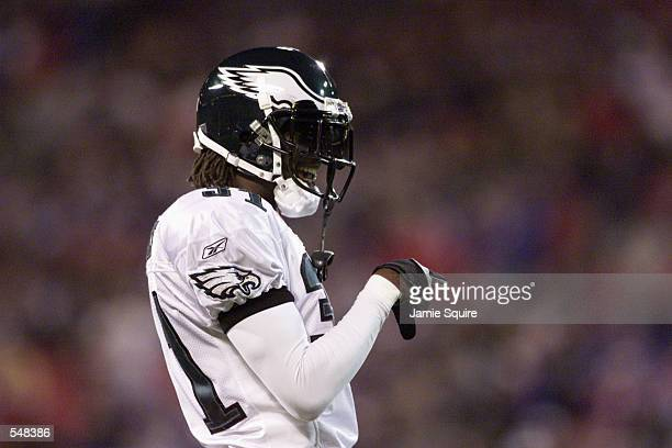 Al Harris of the Philadelphia Eagles smiles during the game against the New York Giants at Giants Stadium at the Meadowlands in East Rutherford New...
