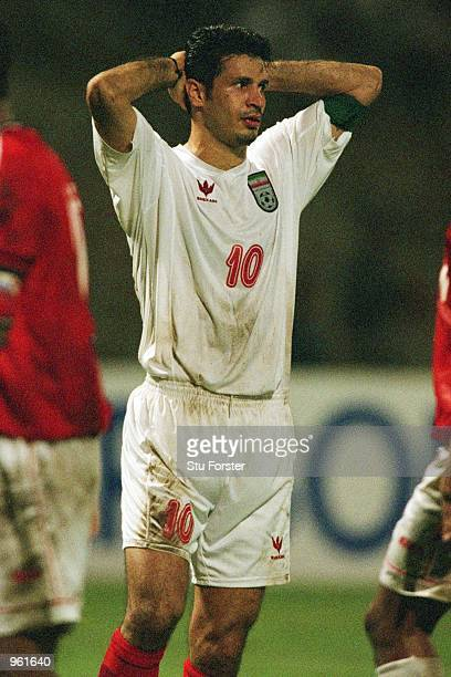 Ali Daei of Iran rues a missed chance during the FIFA 2002 World Cup Qualifier between Bahrain and Iran played at the National Stadium in Manama...