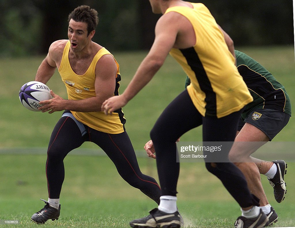 Andrew Johns in action during the Australian Kangaroos team training session held at Erskineville Park in Sydney, Australia. DIGITAL IMAGE. Mandatory Credit: Scott Barbour/ALLSPORT