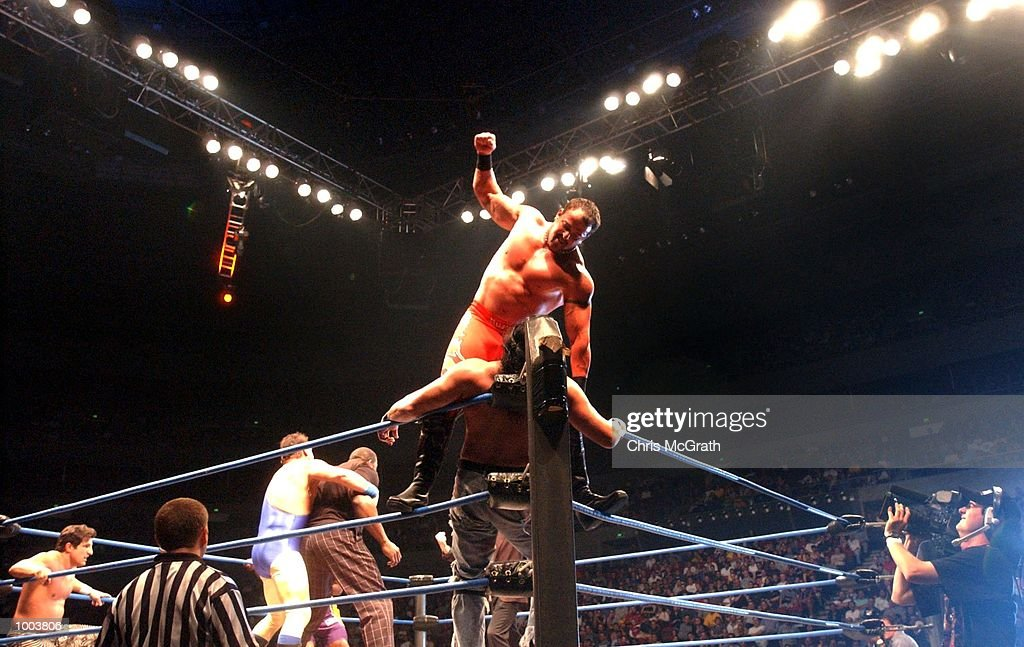 Buff Bagwell in action during the WWA Wrestling 'Inception' fight night held at the Sydney Superdome, Sydney, Australia. DIGITAL IMAGE Mandatory Credit: Chris McGrath/ALLSPORT