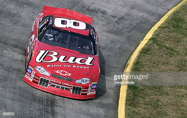 Dale Earnhardt Jr drives the Budweiser Chevrolet Monte Carlo during the Old Dominion 500 part of the Winston Cup Nascar Series at Martinsville...