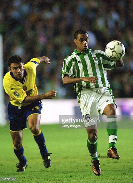Denilson of Betis on the ball during the Primera Liga match between Real Betis and Villarreal played at the Ruiz de Lopera Stadium in Sevilla Spain...