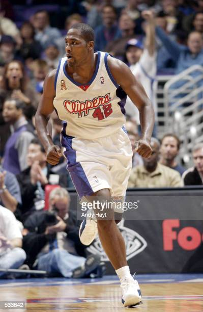 Elton Brand of the Los Angeles Clippers during a preseason game against the Phoenix Suns at Staples Center in Los Angeles California DIGITAL IMAGE...