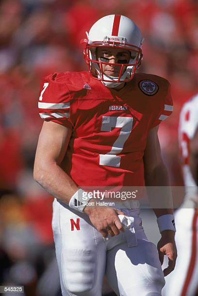 Eric Crouch of the Nebraska Cornhuskers walks on the field during the game against the Oklahoma Sooners at Memorial Stadium in Lincoln Nebraska The...