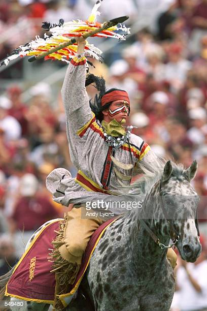 Florida State mascot gallops across the field before the game against Miami at Doak Campbell Stadium in Tallahassee Florida Miami won 4927 DIGITAL...