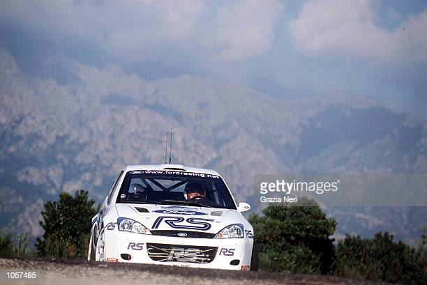 Francois Delecour driving for the MSport Ford team during the Rally of Corsica DIGITAL IMAGE Mandatory Credit Grazia Neri/ALLSPORT