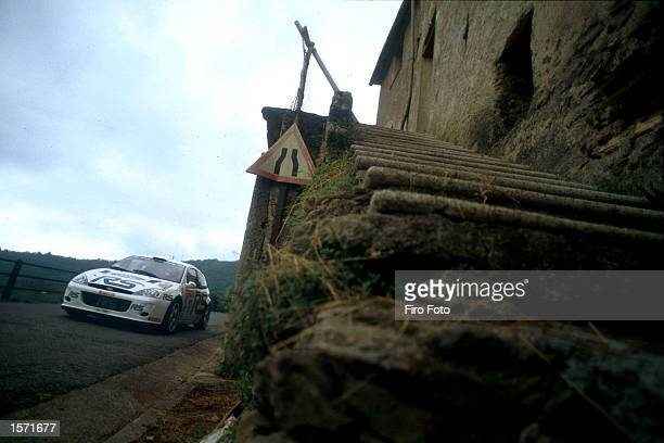 Francois Delecour driving the Ford Focus during the San Remo Rally in Italy part of the World Rally championship 2001 DIGITAL IMAGE Mandatory Credit...