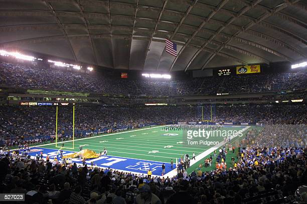 General view of the field before the night game at the Pontiac Silverdome in Pontiac Michigan The Rams defeated the Lions 350 DIGITAL IMAGE Mandatory...
