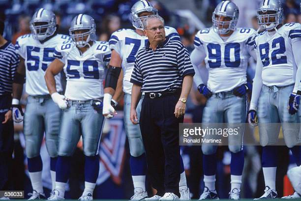 Head Coach Dave Campo of the Dallas Cowboys walks out onto the field during the game against the Arizona Cardinals at the Texas Stadium in Irvine...