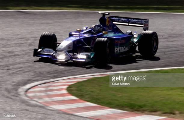 Kimi Raikkonen of Finland and Sauber in action during todays practice session for the Japanese Grand Prix at The Suzuka Circuit Japan DIGITAL IMAGE...