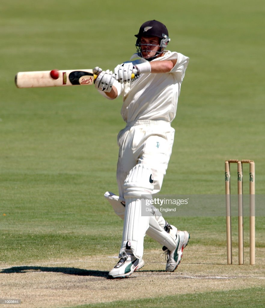 Lou Vincent of New Zealand on his way to making 136 runs against Queensland during the New Zealand cricket teams tour match against the Queensland Academy of Sport at Allan Border Field in Brisbane, Australia. DIGITAL IMAGE. Mandatory Credit: Darren England/ALLSPORT