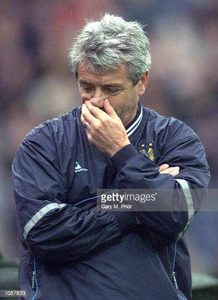 Manchester City manager Kevin Keegan during the match between Preston North End and Manchester City at Deepdale Preston DIGITAL IMAGE Mandatory...