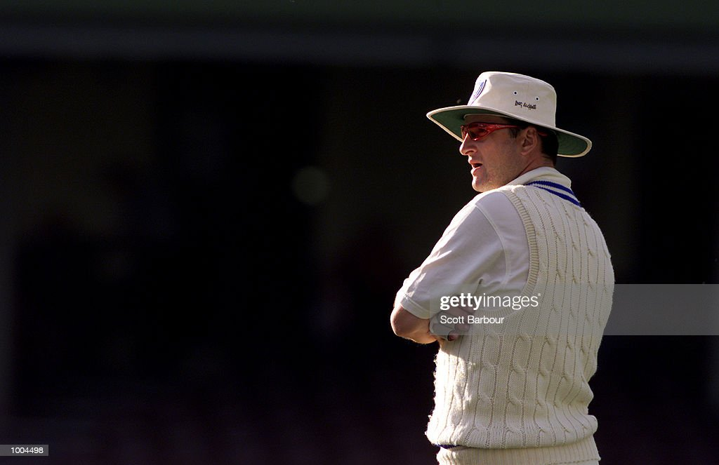 Mark Waugh during day one of the Pura Cup match between New South Wales and South Australia held at the Sydney Cricket Ground in Sydney, Australia. DIGITAL IMAGE. Mandatory Credit: Scott Barbour/ALLSPORT