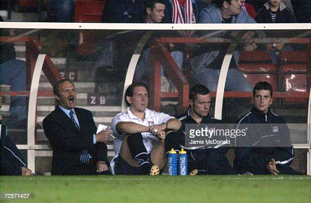 Mick Mills Caretaker Manager of Birmingham City makes his feelings known during the Nationwide First Division League game between Nottingham Forest v...