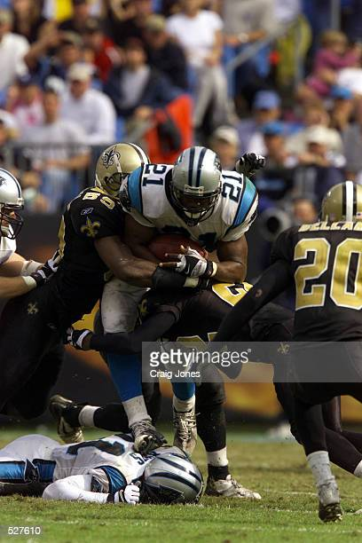 of the New Orleans Saints against the Carolina Panthers during the game at Ericsson Stadium in Charlotte North Carolina The Saints won 2725 DIGITAL...