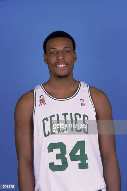 Paul Pierce of the Boston Celtics poses for a studio portrait on Media Day in Boston Massachusetts NOTE TO USER It is expressly understood that the...