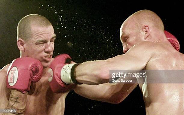 Peter Rolph punches Anthony Courtney during their Super middleweight bout held at the EG Whitlam Centre in Sydney Australia DIGITAL IMAGE Mandatory...