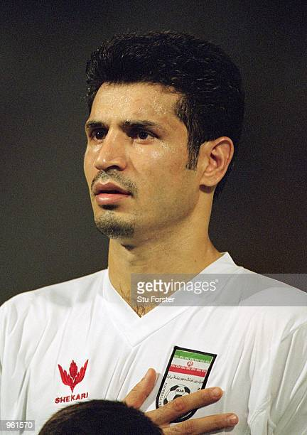 Portrait of Ali Daei of Iran before the FIFA World Cup 2002 Group A Qualifying match against Bahrain played at the National Stadium in Manama Bahrain...