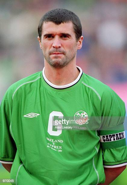 Portrait of Roy Keane of Republic of Ireland before the FIFA World Cup 2002 Group Two Qualifying match against Cyprus played at Lansdowne Road, in...
