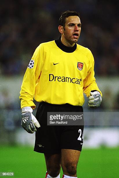 Richard Wright of Arsenal in action during the UEFA Champions League Group C match against FC Schalke 04 played at the Arena AufSchalke in...