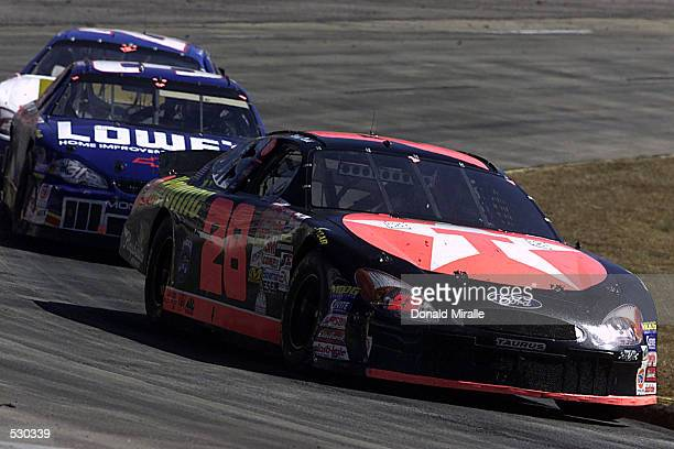 Ricky Rudd drives the Texaco Havoline Ford Taurus during the Old Dominion 500 part of the Winston Cup Nascar Series at Martinsville Speedway in...
