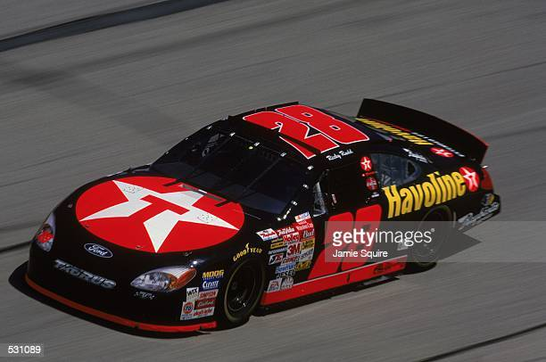 Ricky Rudd speeds along the track during the EA Sports 500 part of the NASCAR Winston Cup Series at the Talladega Superspeedway in Talladega...